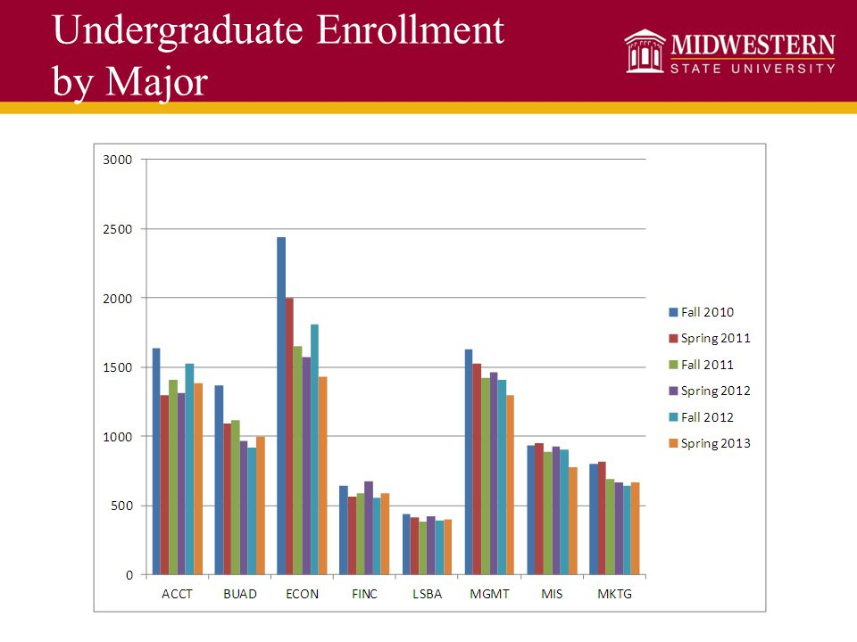 Undergraduate Enrollment by Major