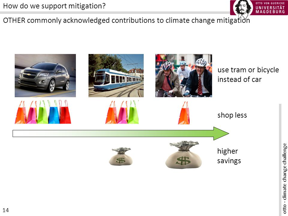 otto - climate change challenge 14 How do we support mitigation.