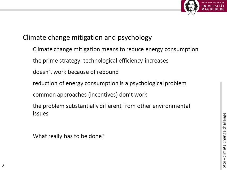 otto - climate change challenge 13 How do we support mitigation.