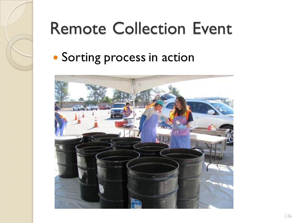 Remote Collection Event Sorting process in action 136