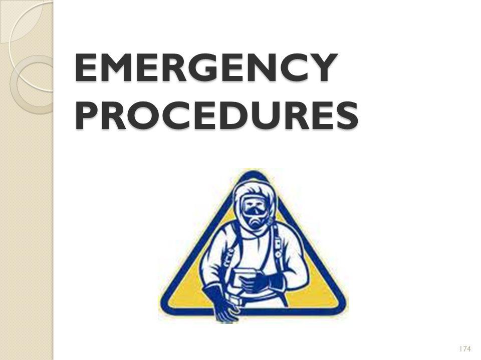 174 EMERGENCY PROCEDURES