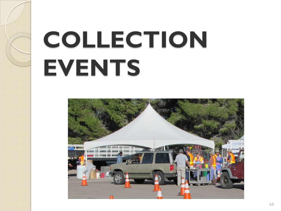 69 COLLECTION EVENTS