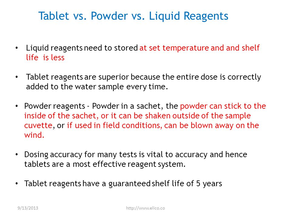 Tablet vs. Powder vs.