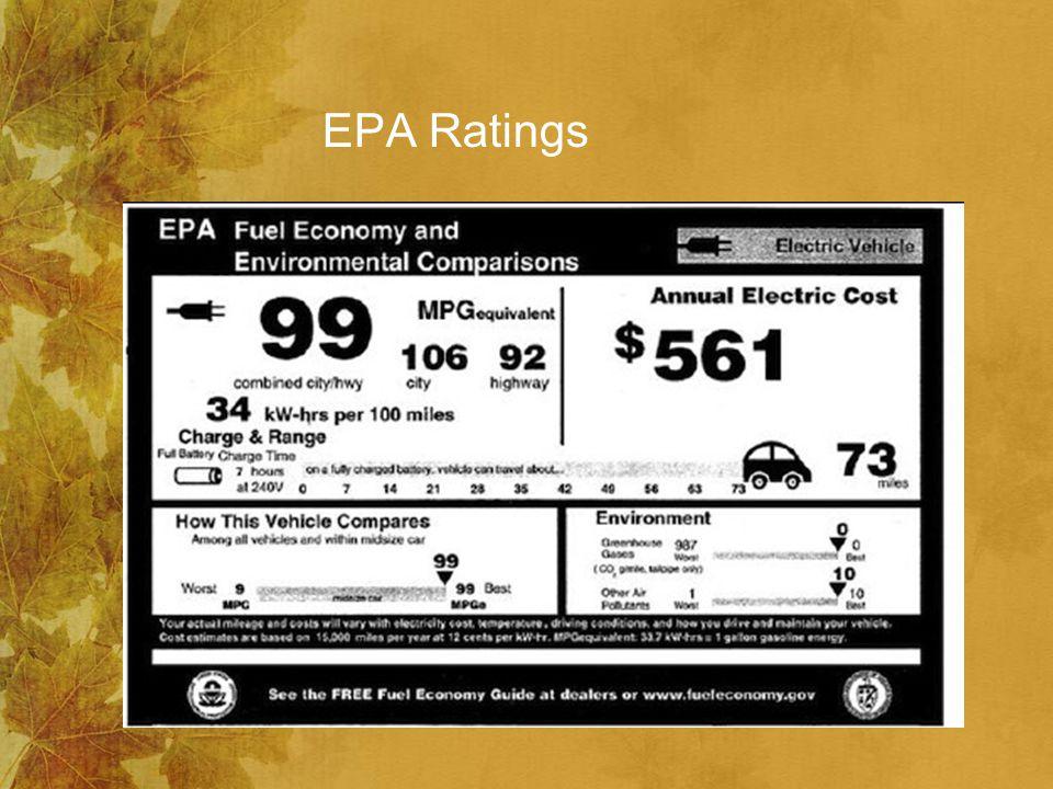 EPA Ratings