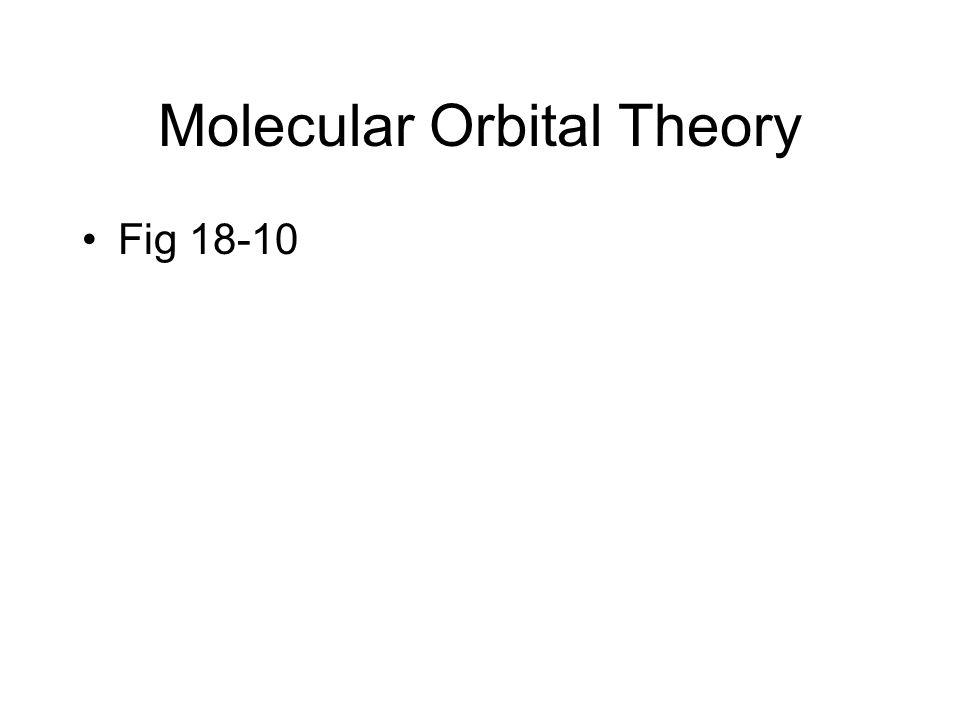 Molecular Orbital Theory Fig 18-10