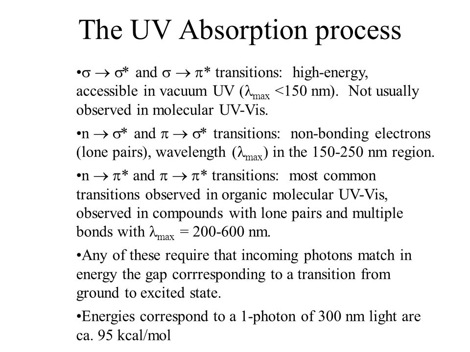 More Complex Electronic Processes Fluorescence: absorption of radiation to an excited state, followed by emission of radiation to a lower state of the same multiplicity Phosphorescence: absorption of radiation to an excited state, followed by emission of radiation to a lower state of different multiplicity Singlet state: spins are paired, no net angular momentum (and no net magnetic field) Triplet state: spins are unpaired, net angular momentum (and net magnetic field)