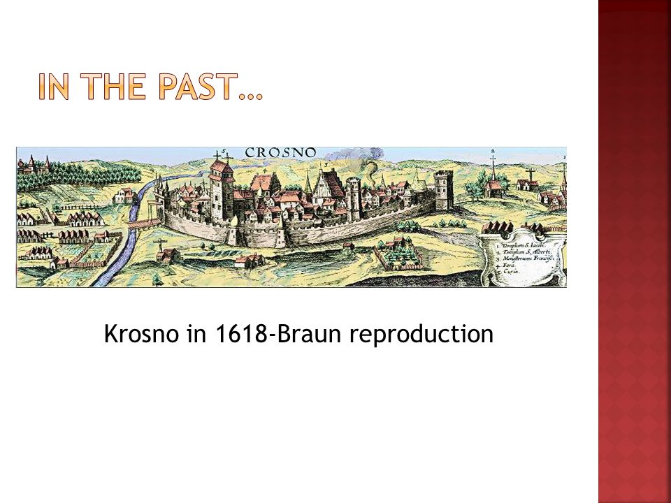 Krosno in 1618-Braun reproduction