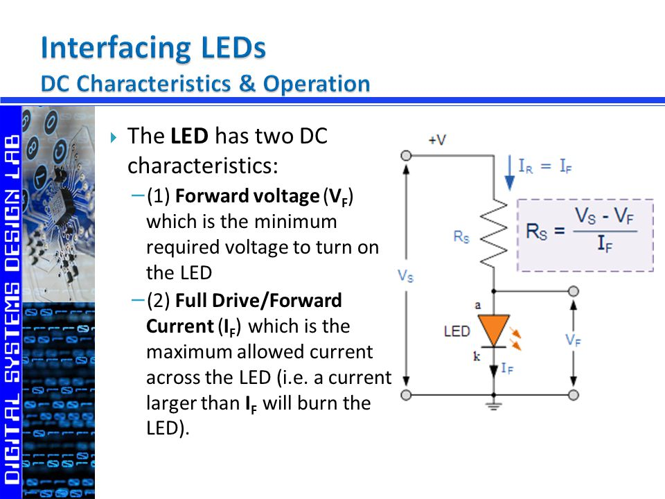 In order to protect the LED, a current limiting resistor R is usually used.