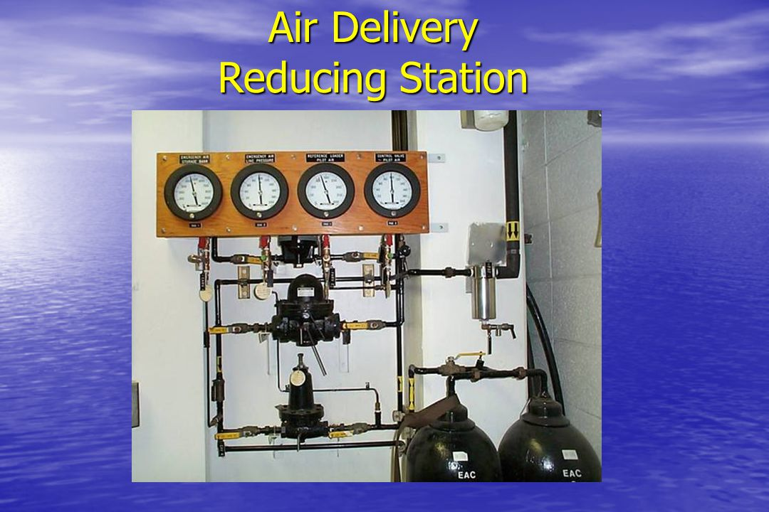 Air Delivery FromCompressors Bank 1 Bank 2 Bank 3 ElectricallyOperated By-pass Tochambers Main Reducing Bypass Relief valve Back-up Control Emergency storage Reference Emergency