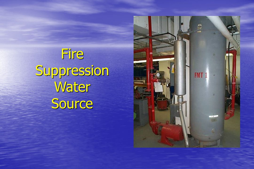 Fire Suppression Tank Pump Fire Suppression System Reliefvalve 200 psig reg.