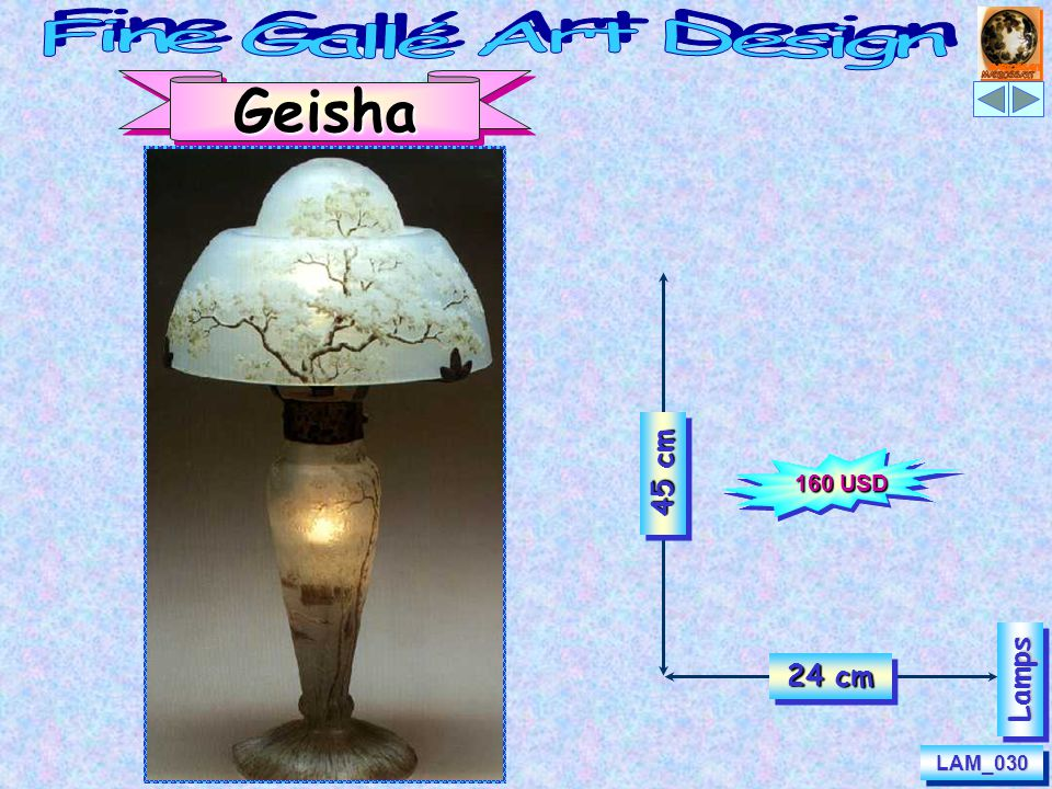 Evening & Morning 50 cm 40 cm LampsLamps LAM_062ELAM_062ELAM_062MLAM_062M 139 USD 132 USD