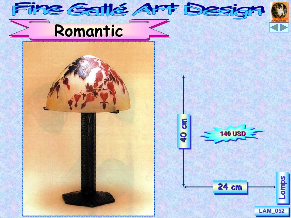 LAM_053LAM_053 LampsLamps Sophisticated Lady 40 cm 19 cm 165 USD