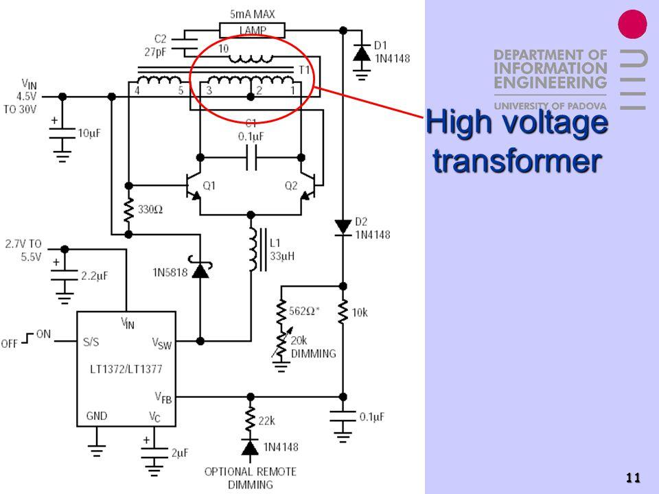 Power Electronics Group - PEL 11 High voltage transformer
