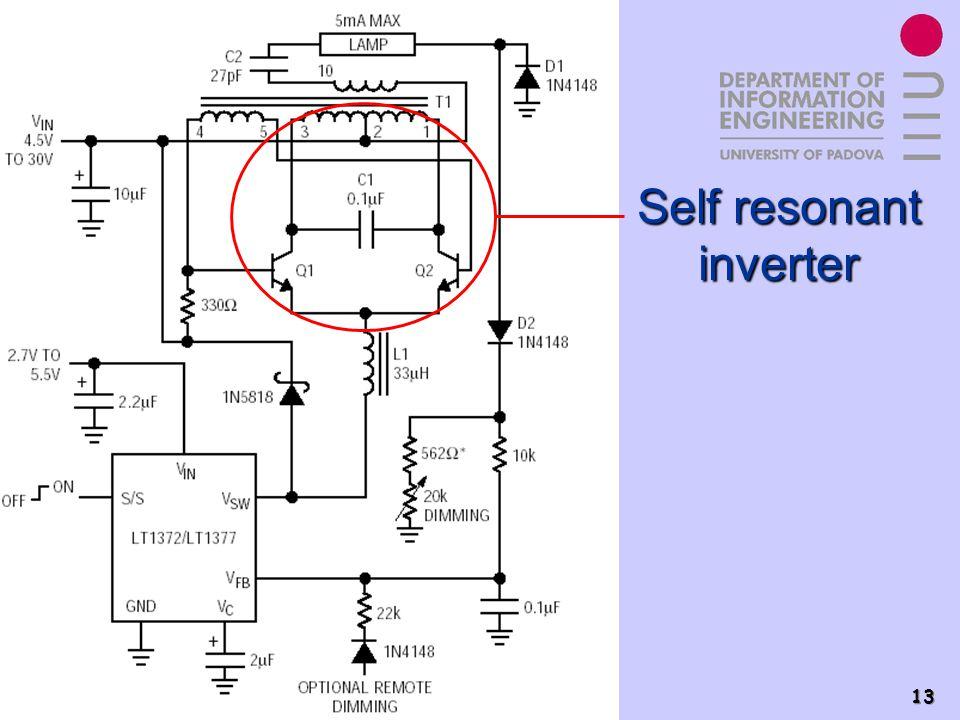 Power Electronics Group - PEL 13 Self resonant inverter