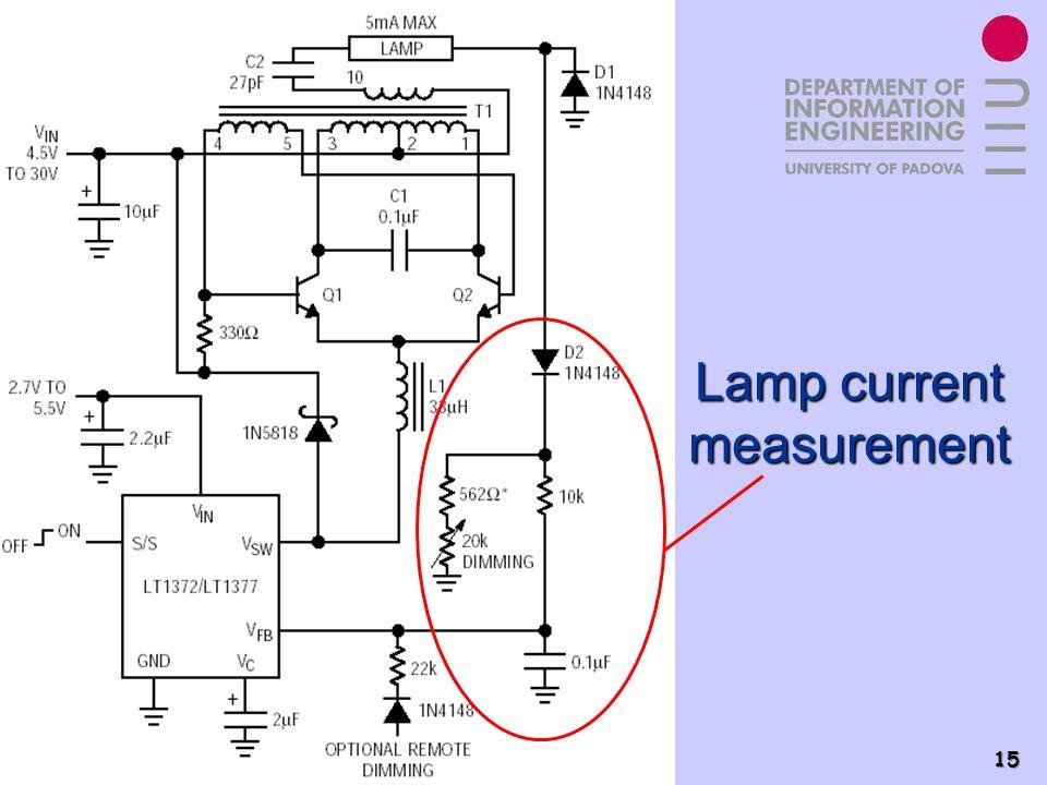 Power Electronics Group - PEL 15 Lamp current measurement