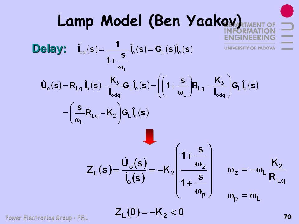 Power Electronics Group - PEL 70 Lamp Model (Ben Yaakov) Delay: