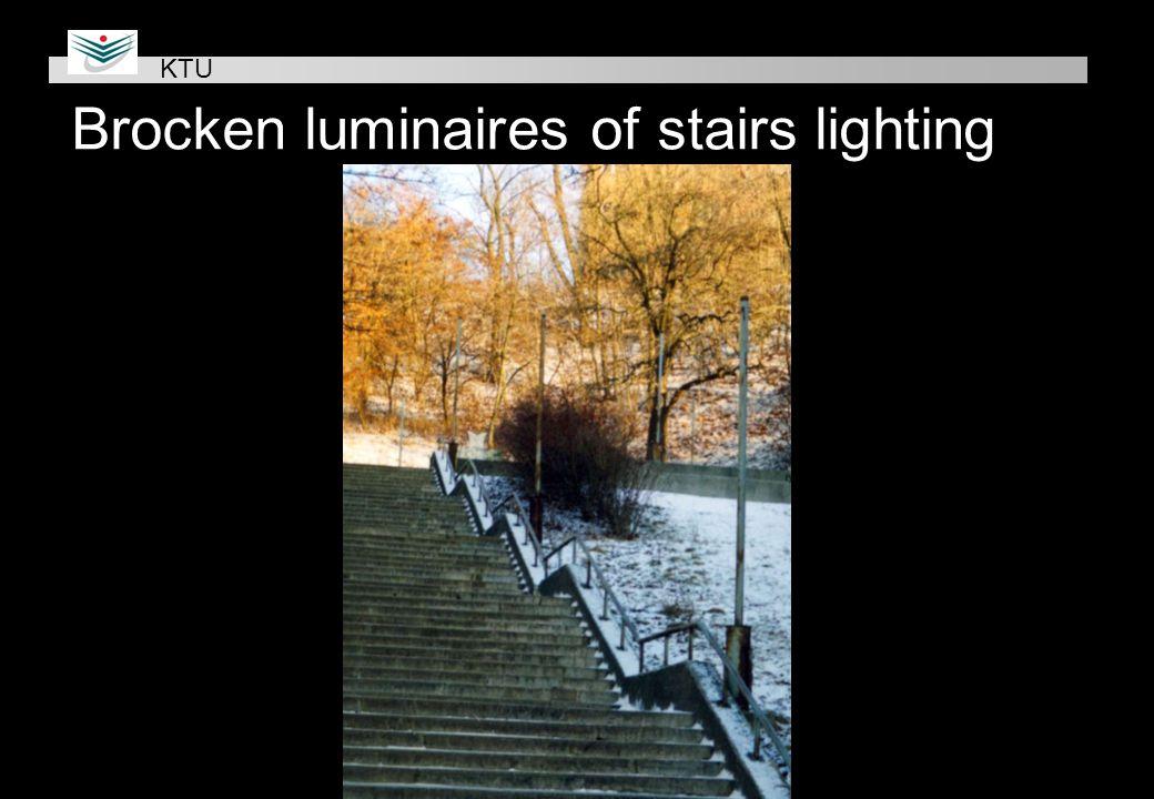 Brocken luminaires of stairs lighting KTU
