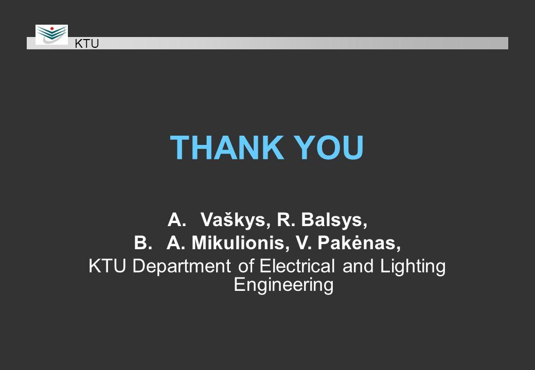 THANK YOU A.Vaškys, R. Balsys, B.A. Mikulionis, V.