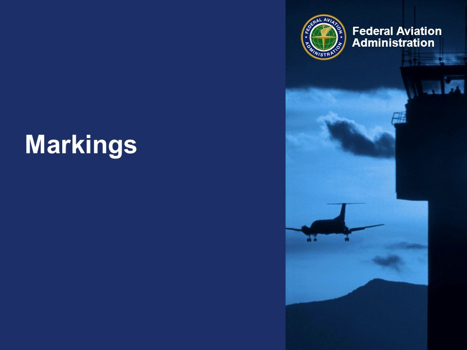 Federal Aviation Administration Markings