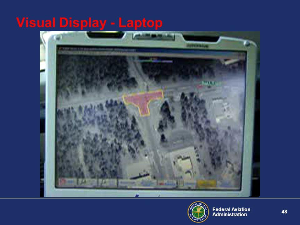 Federal Aviation Administration 48 Visual Display - Laptop