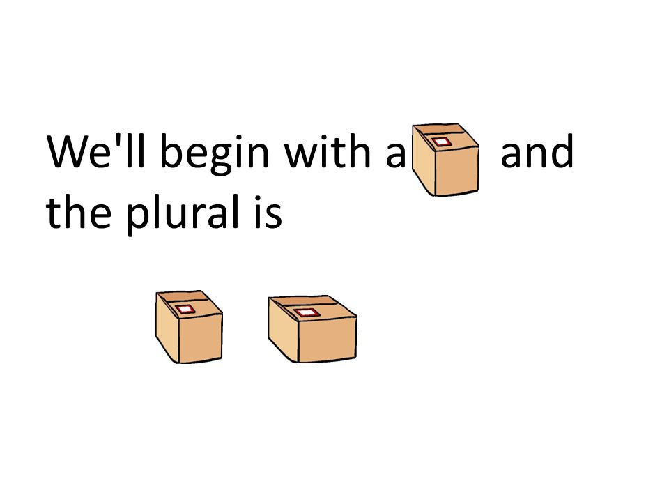 We'll begin with a and the plural is
