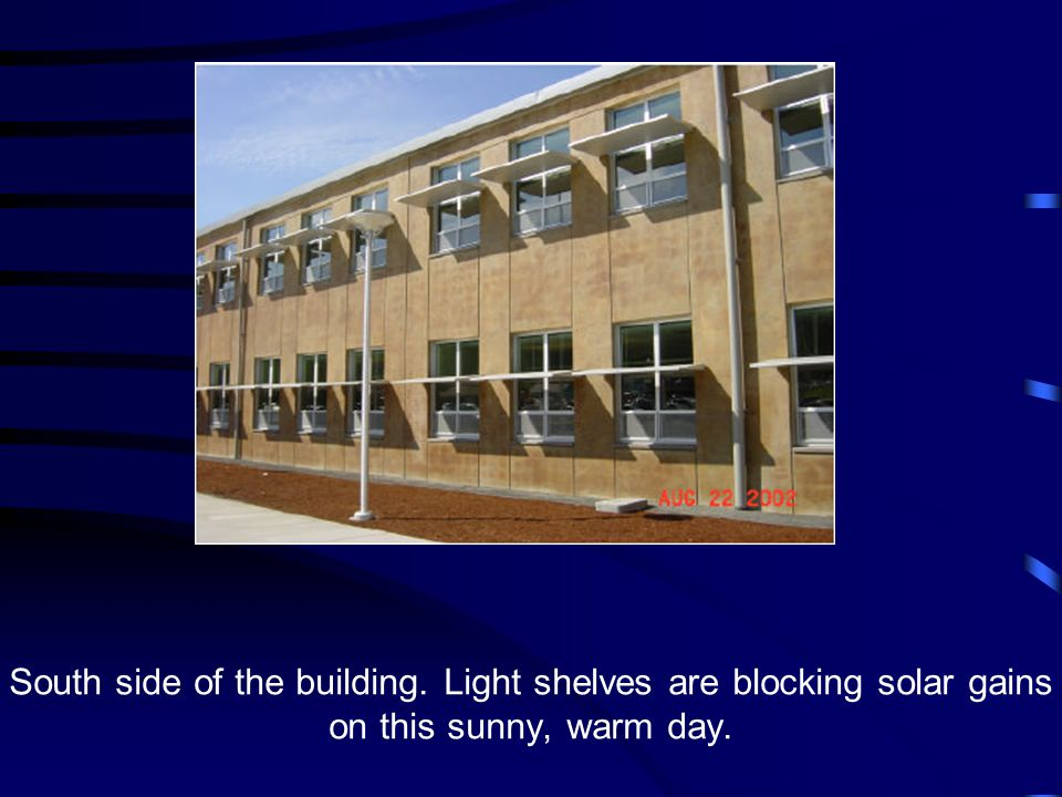 North-facing classroom has windows without light shelves contribute a large amount of natural daylight.