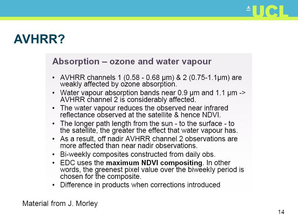 14 Material from J. Morley AVHRR?