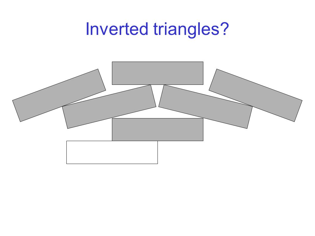 Inverted triangles?