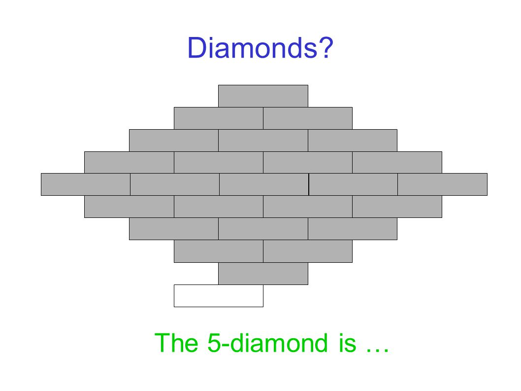 Diamonds The 5-diamond is …