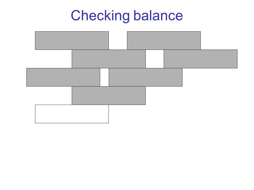 Checking balance