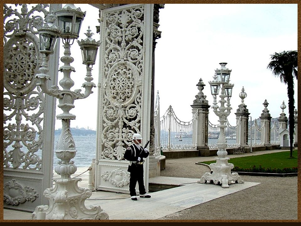 Dolmabahçe Palace in Istanbul, Turkey, located on the European side of Bosphorus, was the main administrative center of the Ottoman Empire.