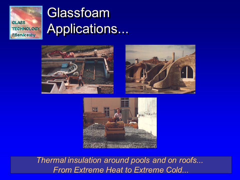 Thermal insulation around pools and on roofs... From Extreme Heat to Extreme Cold...