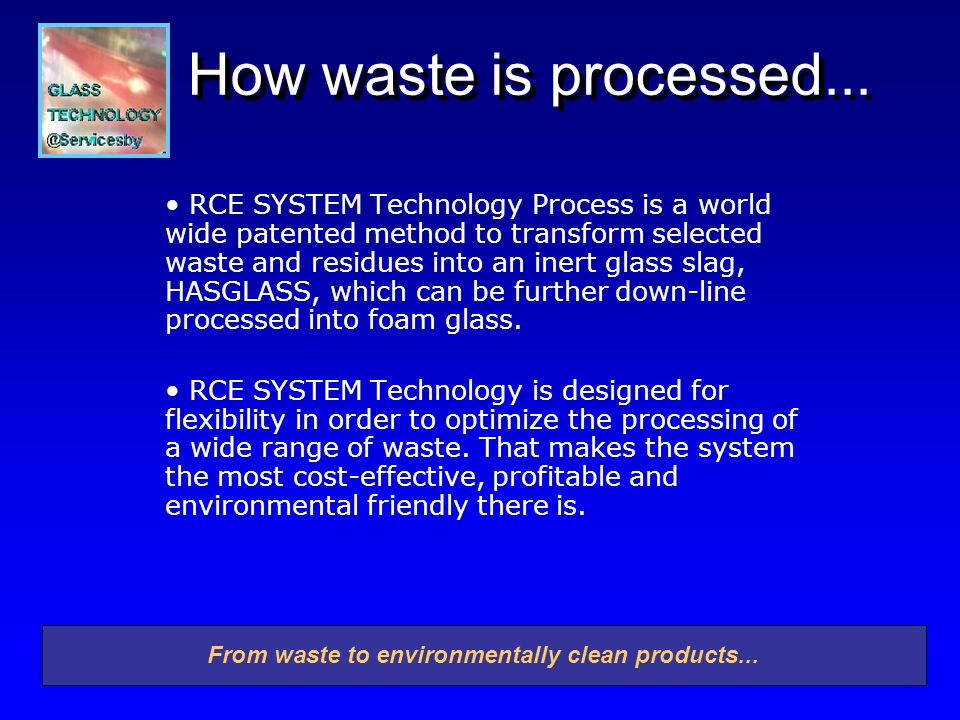 How waste is processed...