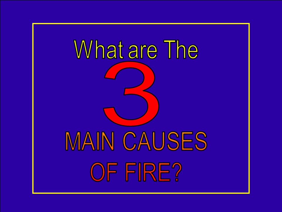 1.Combustible material too close (50%) 2.Candles left unattended (18%) 3.Playing with a candle (5% - mostly kids) Falling asleep – 12% of candle fires, 25% of associated deaths NFPA 2005