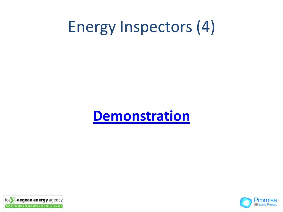 Energy Inspectors (4) Demonstration