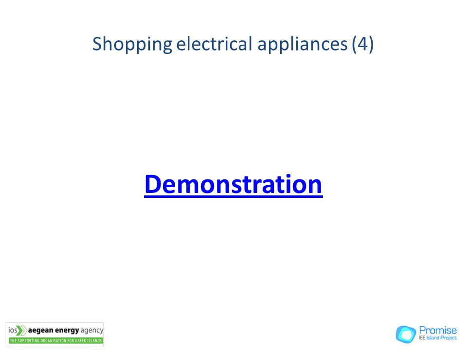 Demonstration Shopping electrical appliances (4)