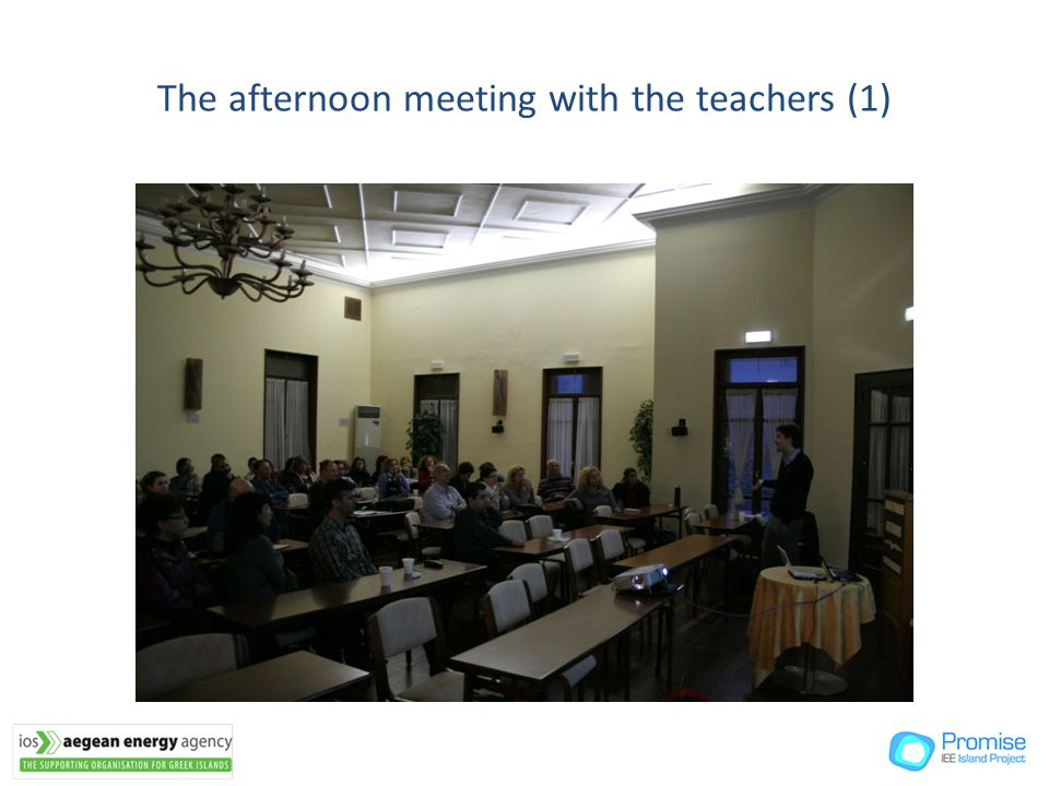 The afternoon meeting with the teachers (1)