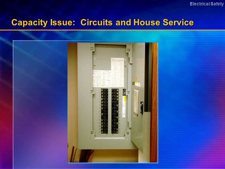 Electrical Safety Capacity Issue: Circuits and House Service