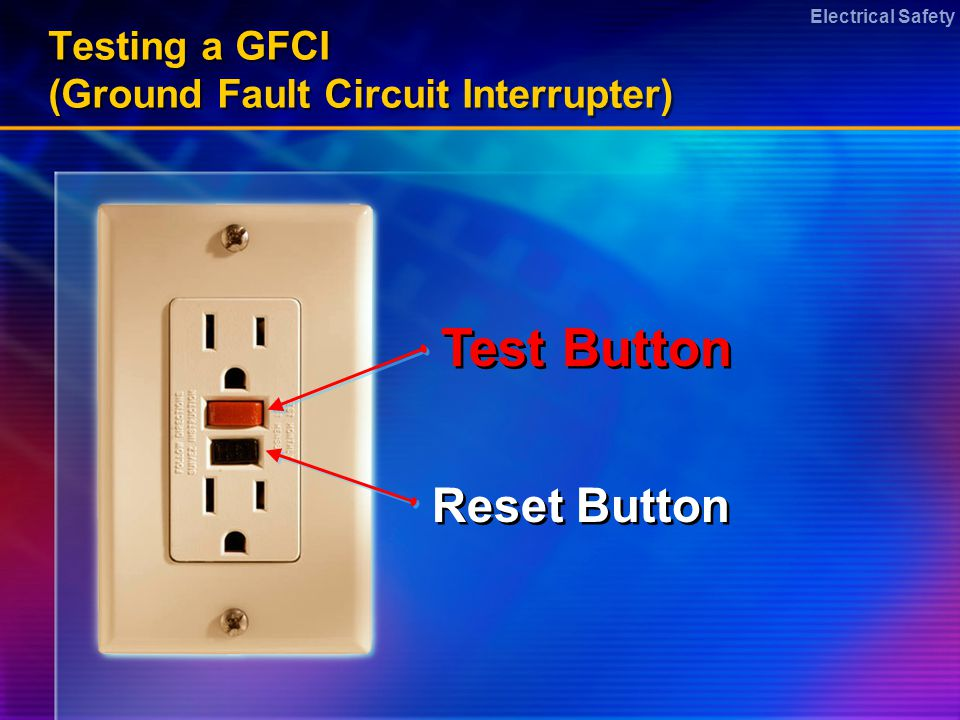 Electrical Safety Emergency Care of Electrical Burns Protect yourself first –Dont be the next victim –Dont touch patient until the power is off –If you are unsure how to turn power off, wait for qualified help to arrive –Never use water on an electrical fire Protect yourself first –Dont be the next victim –Dont touch patient until the power is off –If you are unsure how to turn power off, wait for qualified help to arrive –Never use water on an electrical fire