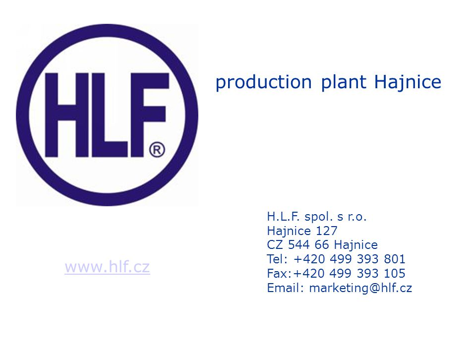 Ownership H.L.F.spol. s r.o. is Czech privately owned company.