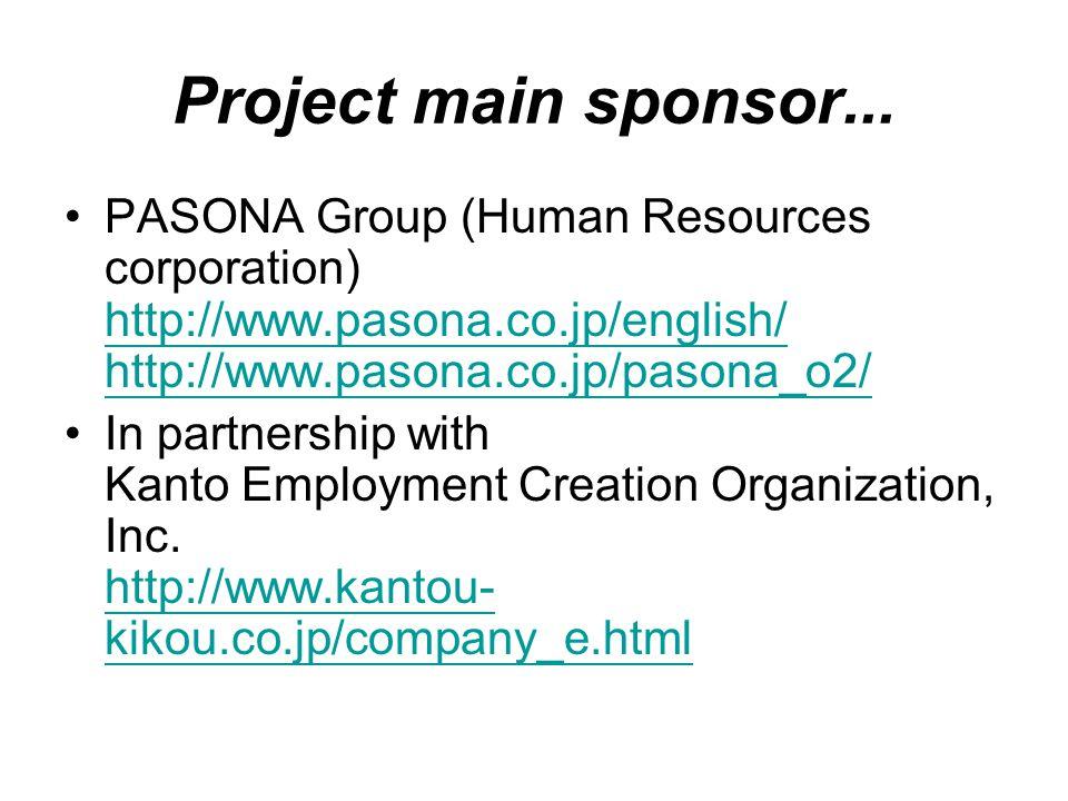 Project main sponsor...