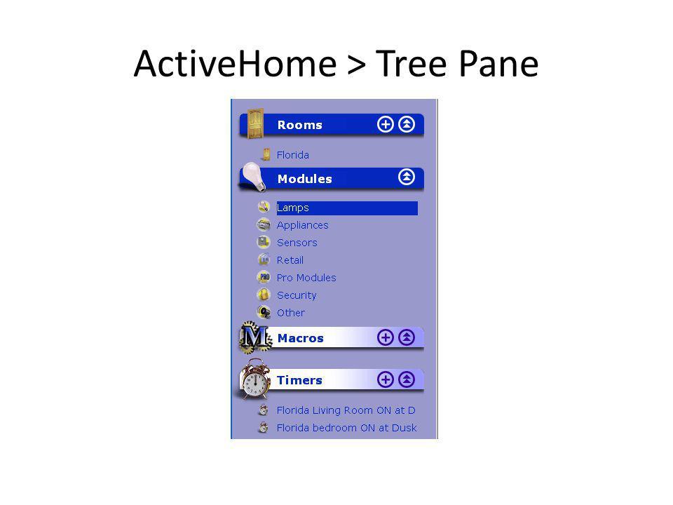 ActiveHome > Tree Pane