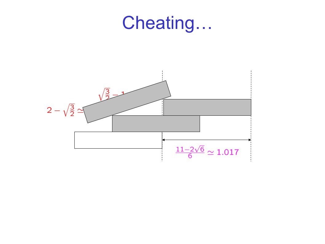 Cheating…