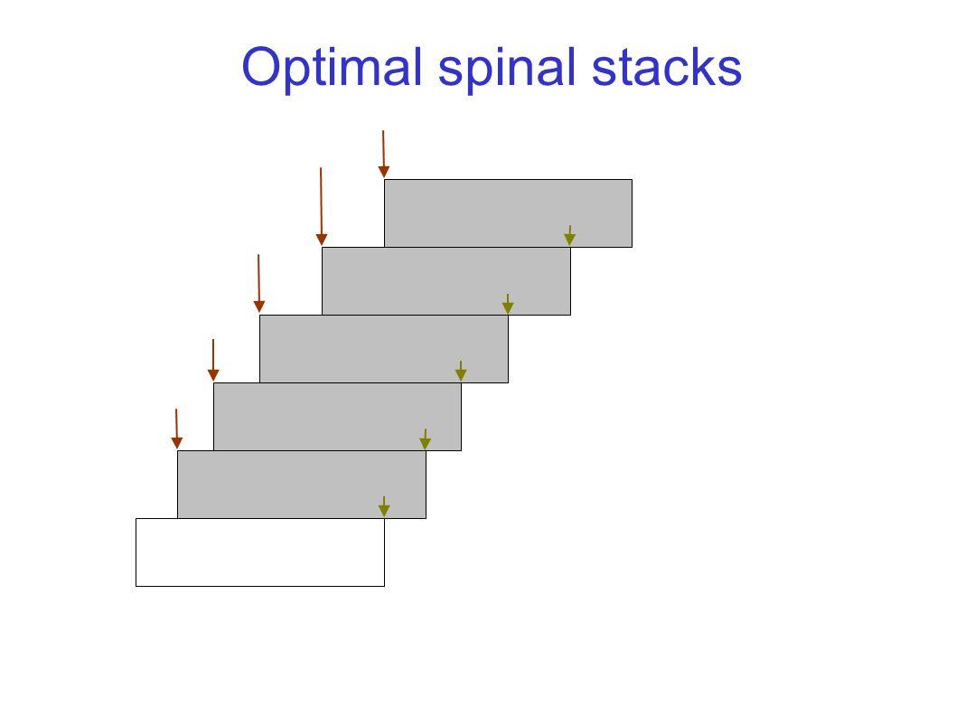Optimal spinal stacks