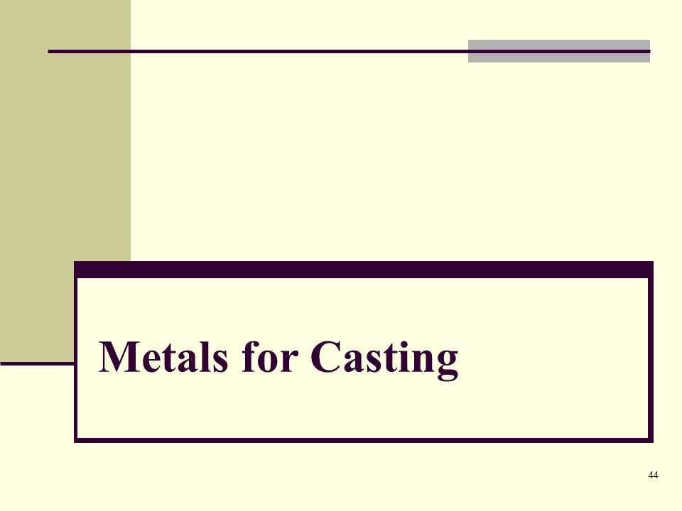 44 Metals for Casting