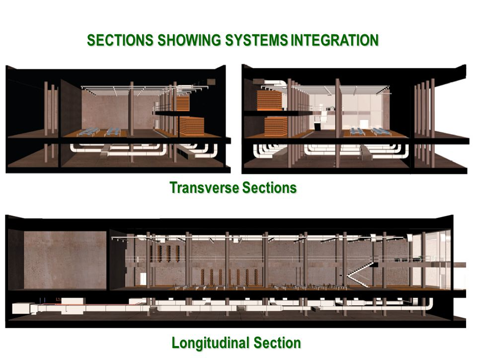 Transverse Sections Longitudinal Section SECTIONS SHOWING SYSTEMS INTEGRATION