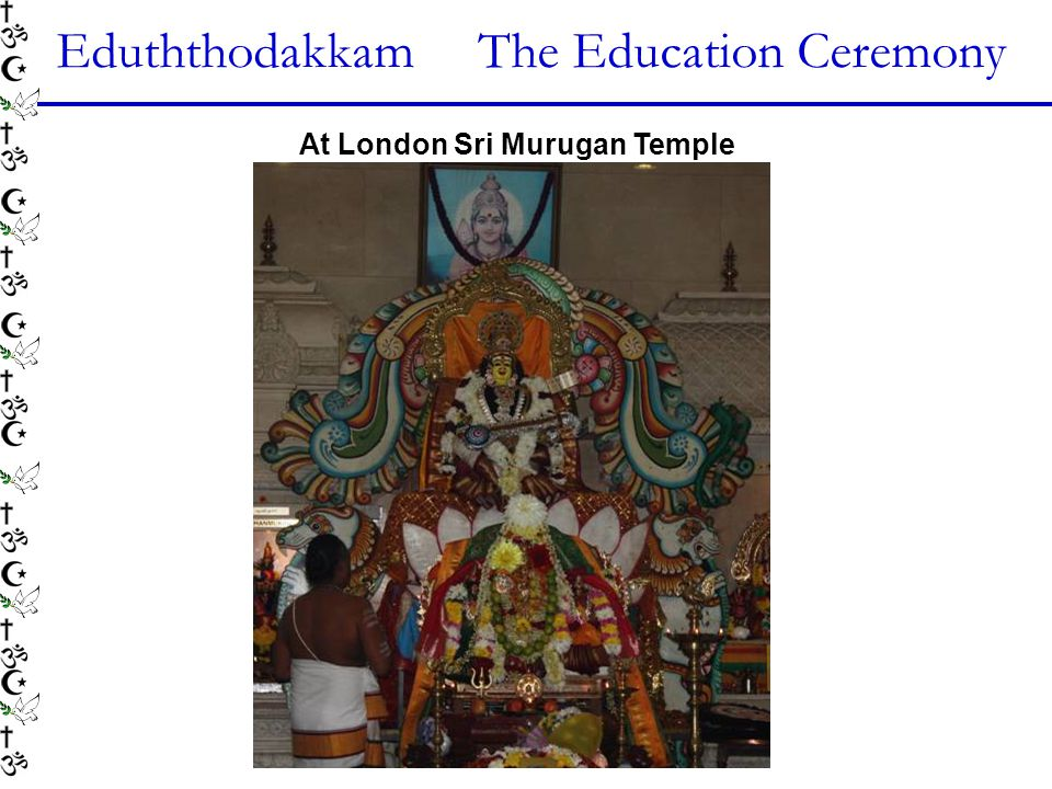 Eduththodakkam The Education Ceremony At London Sri Murugan Temple