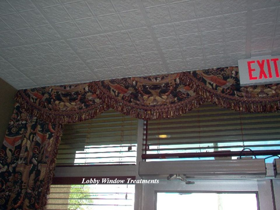 Lobby Window Treatments