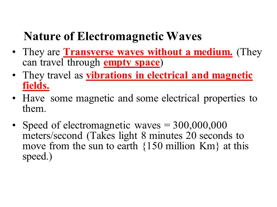 When an electric field changes, so does the magnetic field.