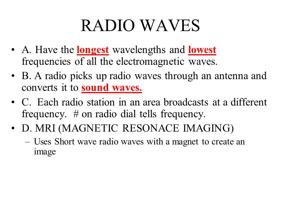 X- RAYS Shorter wavelength and higher frequency than UV-rays Carry a great amount of energy Can penetrate most matter.